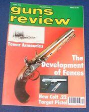 GUNS REVIEW MAGAZINE APRIL 1996 - THE COLT .22 TARGET PISTOL