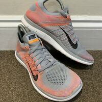 Nike Free 4.0 Flyknit Ladies Womens Grey Trainers UK Size 6.5
