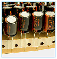 10x 2200uf 10v Electrolytic Capacitor 10v2200uf Nichicon HN Ultra Low Impedance