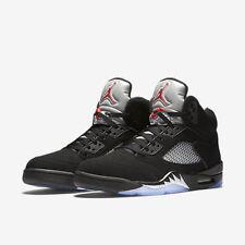 2016 Nike Air Jordan 5 V Retro OG Black Metallic Silver Size 13. 845035-003