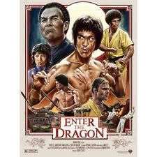 Introduce el Dragón Bruce Lee Película cartel de seda 13x18 24x32 pulgadas 002