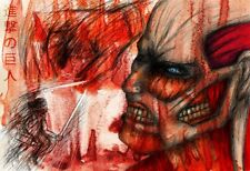 Attack on Titan Anime Art 11 x 17 Quality Poster Manga Colossal Titan Eren