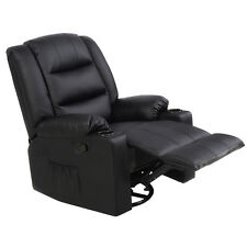 Ergonomic Massage Sofa Chair Deluxe Recliner Swivel Lounge Heated w/ Control