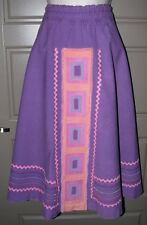 Vintage Purple Handmade Hippie Patchwork Skirt M - L Medium Large