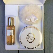Vintage Christian Dior Miss Dior Eau De Cologne Lambwool Puff Dusting Powder Set