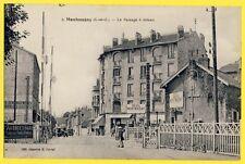 cpa vers 1930 GARE PASSAGE à NIVEAU de MONTMAGNY DEUIL la BARRE (Val d'Oise)