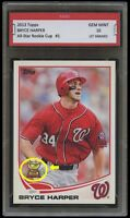 BRYCE HARPER TOPPS ALL-STAR ROOKIE CUP CARD 1ST GRADED 10 WASHINGTON NATIONALS