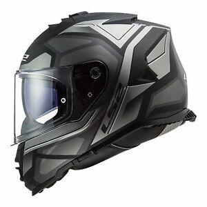 L Large LS2 STORM FASTER Full Face Road Motorbike Helmet MATT BLACK / TITANIUM