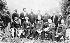 1869 Large Rare Photo General Robert E. Lee and His Confederate Officers