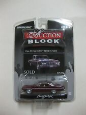 GREENLIGHT RARE Auction Block 1964 Plymouth Sport Fury MAROON 1:64 FACTORY SEALE