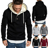 Men Winter Casual Hoodie Warm Sweatshirt Hooded Coat Sweater Pullover Tops Hoody