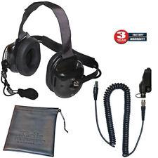 Klein Titan Extreme Noise Black Headset for Kenwood TK and NexEdge Radios