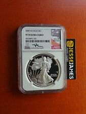 2005 W PROOF SILVER EAGLE NGC PF70 ULTRA CAMEO RARE MERCANTI SIGNED!