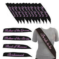 BULK BUY DO LOT *BLACK WITH PINK* HEN PARTY SASH SASHES GIRLS NIGHT OUT
