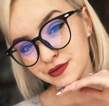 Gaming Glasses Blue Light Blocking Computer Round Vintage Eye wear Geek Anti UV