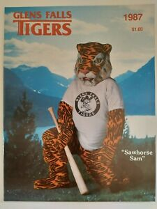 1987 Glens Falls Tigers (NY) Eastern League Minors Game Program New From Case