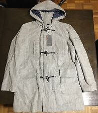 Ben Sherman Men's Wool Hooded Trench Coat Size Large
