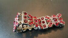 Cute Red Stone Stretch Bracelet Preowned