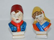 Vintage Salt and Pepper Shakers Made in Occupied Japan Lovely Man & Lady Couple
