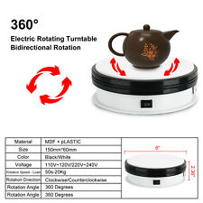 """6"""" White Rotating Display Stand 110V Motorized Turntable Display Stand US Stand"""
