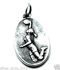 Retired VINTAGE James Avery Volleyball Sports Pendant  or Charm