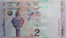 RM2 Ahmad Don side sign 2 pcs Running Number Note CE 9009147 - 148