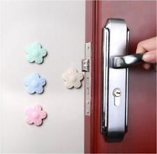4PCS Flower Wall Protector Self Adhesive Door Handle Bumper Guard Stopper Rubber