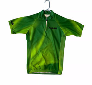 Polar Safetycol Rule Your Life Cycling Jersey Men's 1 1/2 Zip Shirt Green S?