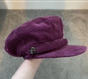 Burgundy M&S ladies baker boy style cap - worn once