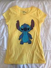New Women's Disney Stitch Yellow T-shirt 2XL