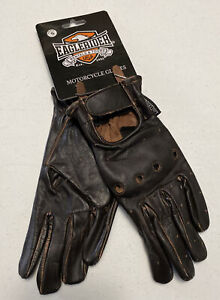 Eaglerider Mens Motorcycle Gloves Size Small Dark Brown NWT LBB76
