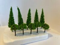 x10 Mixed Green Model Trees 1/100 OO Scale Landscape, Building, Scenery, Layout