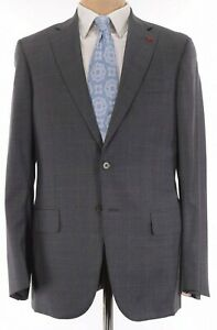 ISAIA NWT Suit Size 40R In Gray With Shades of Gray Plaid 130's Wool Base S