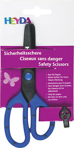 HEYDA Kinderschere Sicherheitsschere Kunststoff 13cm für Papier 2048081 NEU