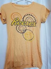 "Juniors Graphic T-Shirt ""Reeses"" Logo Size M Orange Lots To Sell Mix Match"
