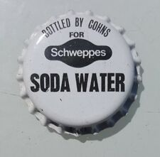 SCHWEPPES SODA WATER Unused Bottle Cap 1970's Soft Drink
