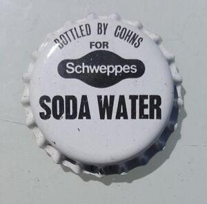 SCHWEPPES SODA WATER Unused Bottle Cap Top 1970's Soft Drink