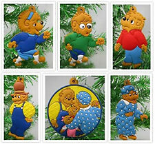 Berenstain Bears Christmas Ornament 6 Piece Set Featuring  Lizzy Bruin BRAND NEW