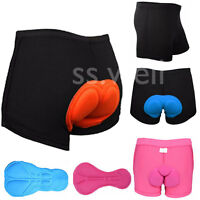 Unisex Bike Gel Cycling Briefs Short Breathable 3D Padded MTB Bicycle Under Wear