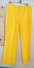 Vintage Devonette Polytron Polyester 1960's Bright Yellow Stretch Pants Size 16