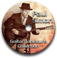 PAUL SIMON FOLK ROCK GUITAR TAB TABLATURE SONG BOOK SOFTWARE CD