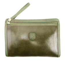Celine Clutch Bag Leather Used Auth C3689