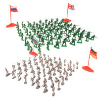 400pcs 2cm Army Men Boys Toy Soldiers Military Battlefield Sand Scene Accs