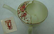 Magnifique peint main antique mangeoire non valide cup 19th siècle floral wild rose