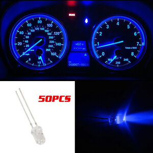 50x Blue 5mm mini Led  Instrument Cluster Gauge Panel Dash Light for Chevy GMC