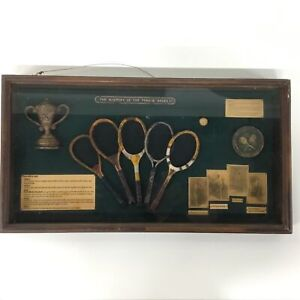 Framed 3D Shadowbox - The History of the Tennis Racket #454