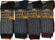 12 Pairs Mens Ultimate Kato Work Socks Boot Safety Sock Size 6-11 Cushion Sole
