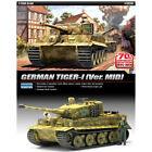 ACADEMY #13287 1/35 Plastic Model Kit German Tiger-I Ver.Mid Tank
