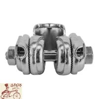 "VELO 7/8"" SILVER BICYCLE SEAT RAIL CLAMP GUTS ASSEMBLY."