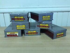 Eastman Kodak Kodaslide Compartment File 35mm Slide Metal Box Gray / Red ~QTY 1~
